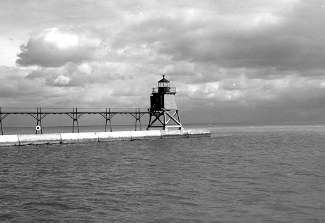 U.S. Coast Guard Archive Photo of the Two Rivers Lighthouse