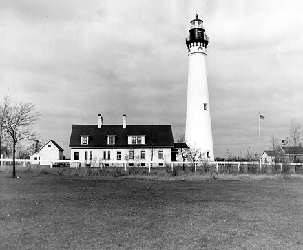 U.S. Coast Guard Archive Photo of the Wind Point Lighthouse
