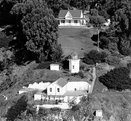 U.S. Coast Guard Archive Photo of the Yerba Buena Lighthouse