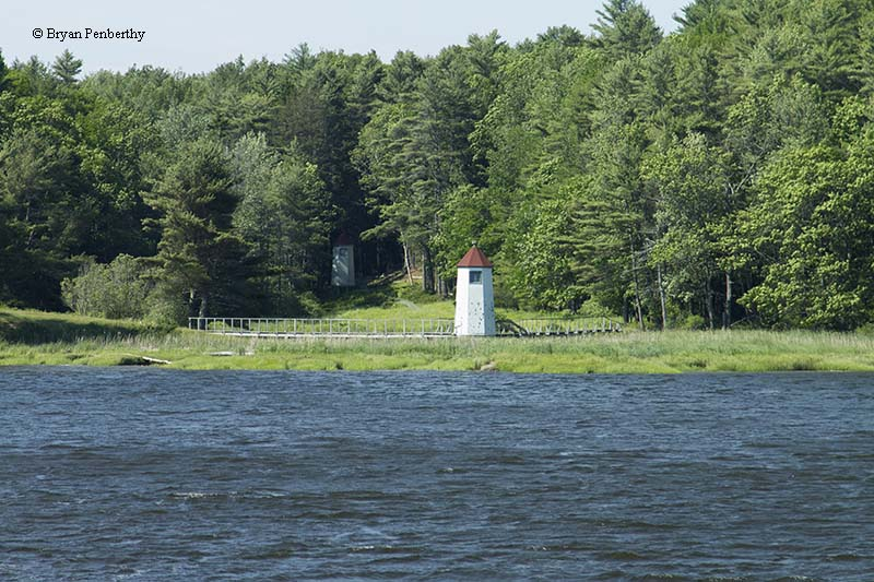 Photo of the Doubling Point Range (Kennebec River Range) Lighthouse.