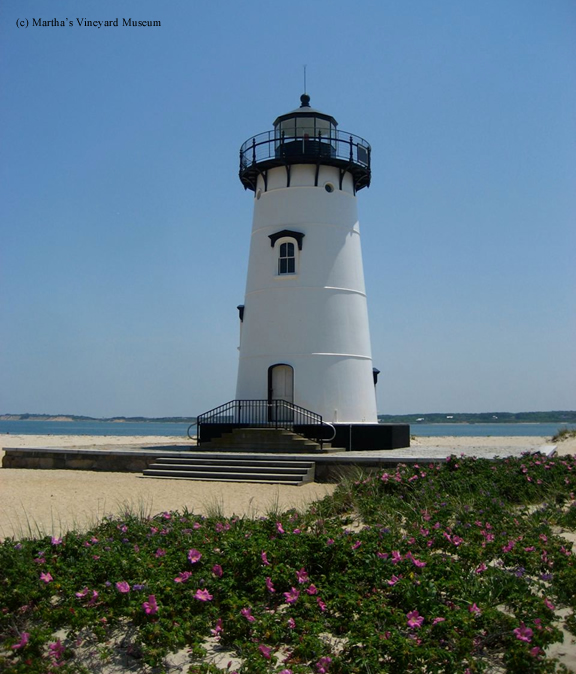 Photo of the Edgartown Harbor Lighthouse.