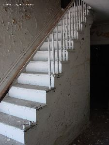The stairway inside the Execution Rocks Lighthouse dwelling.