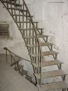 The spiral staircase within the Execution Rocks Lighthouse tower.