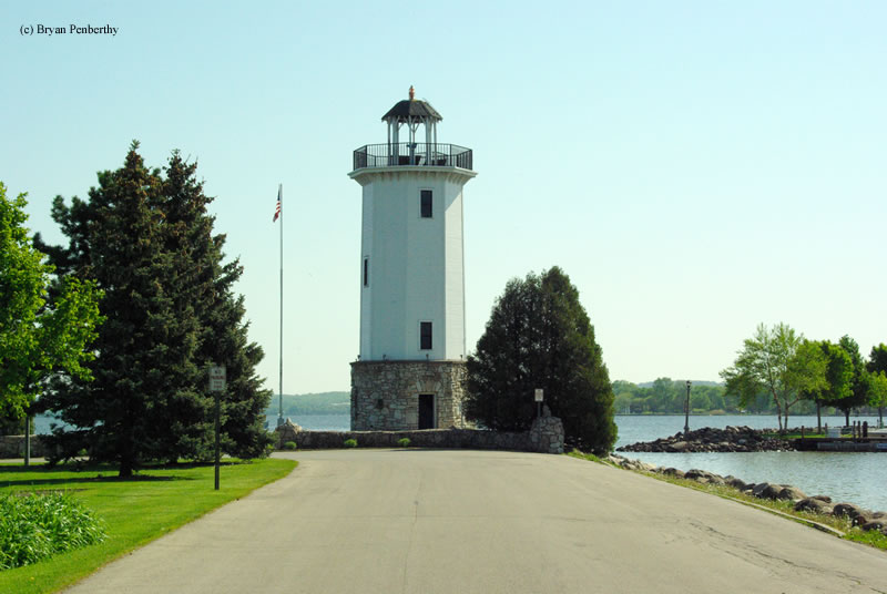 Photo of the Fond du Lac Lighthouse.
