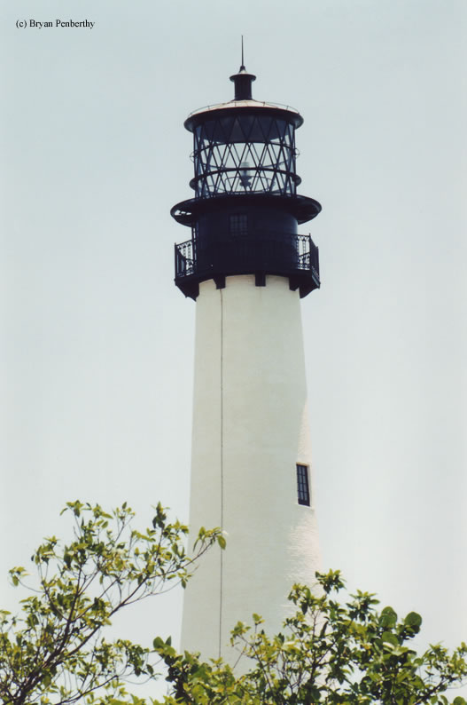 Photo of the Cape Florida Lighthouse.