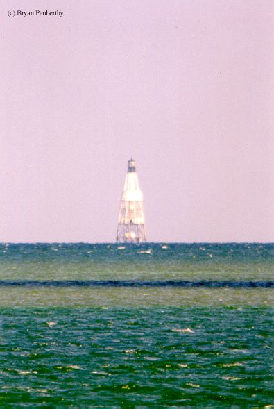 Photo of the Alligator Reef Lighthouse.