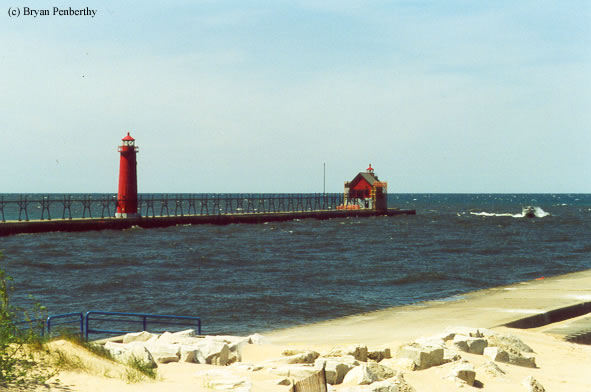 Photo of the Grand Haven Lighthouse.