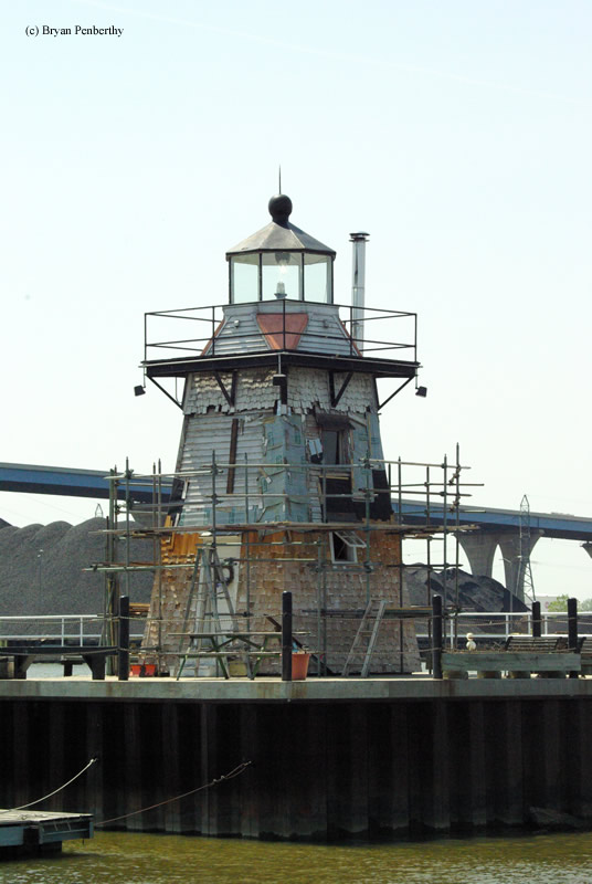 Photo of the Grassy Island Front Range Lighthouse.