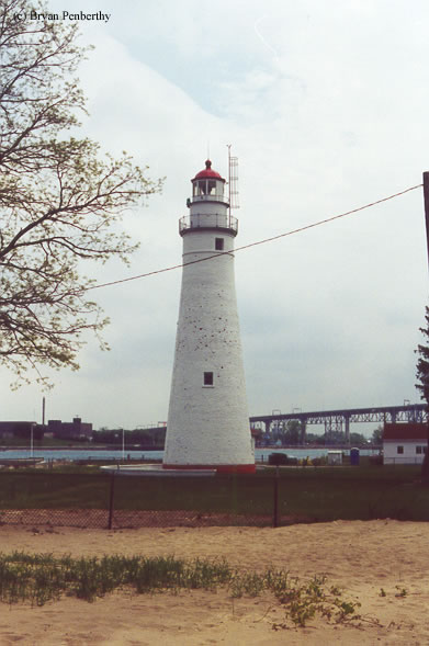 Photo of the Fort Gratiot Lighthouse.