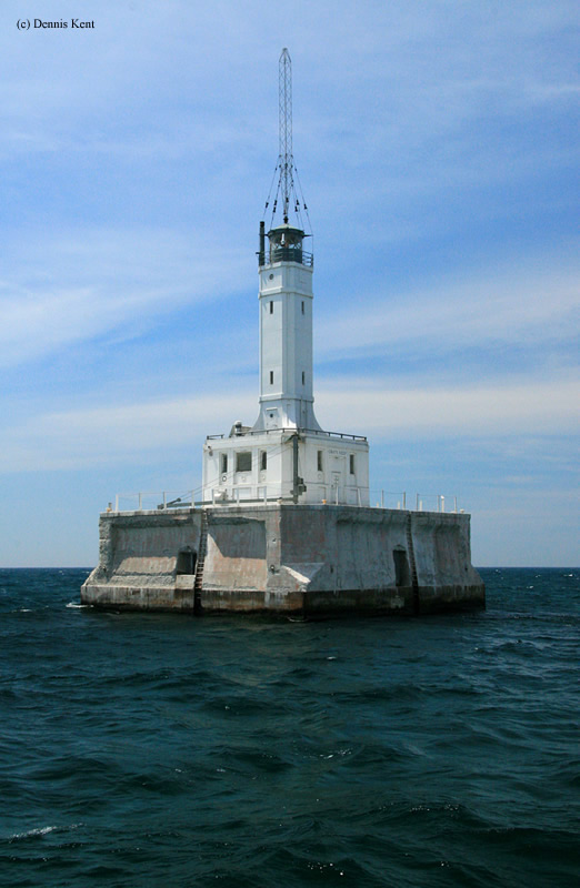 Photo of the Grays Reef Lighthouse.
