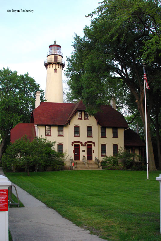 Photo of the Grosse Point Lighthouse.