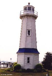 Grand Island Lighthouse tower.