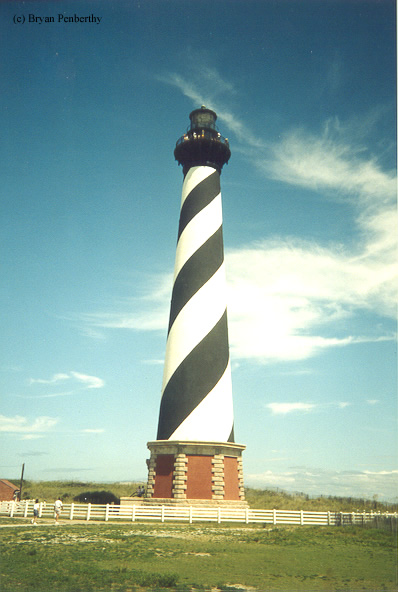 Photo of the Cape Hatteras Lighthouse.