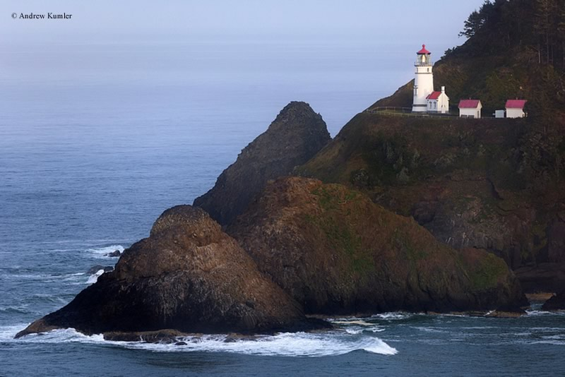 Photo of the Heceta Head Lighthouse.