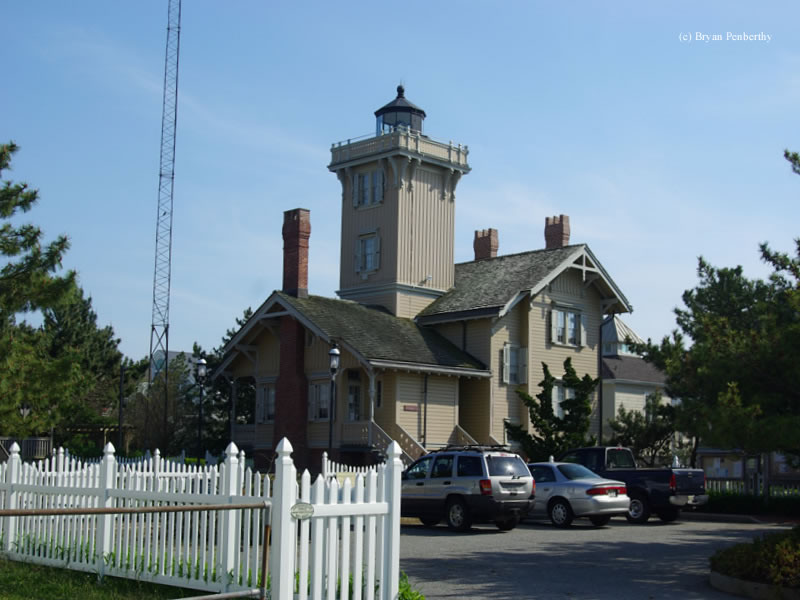 Photo of the Hereford Inlet Lighthouse.