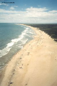 PRE MOVE: The beach area that Hatteras watches over.
