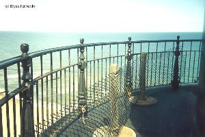PRE MOVE: The salty ocean breeze takes its toll on the railing.