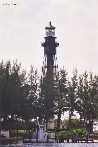 Close up shot of lighthouse.