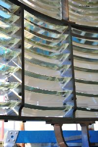 Prisms of the first order Fresnel lens.