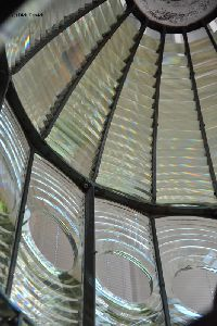 Inside of the first order Fresnel lens.