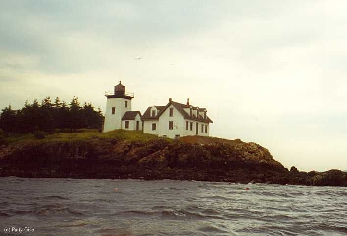 Photo of the Indian Island Lighthouse.