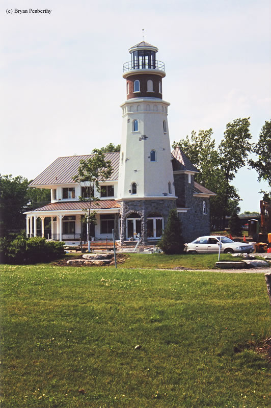 Photo of the Island Street Boatyard Lighthouse.