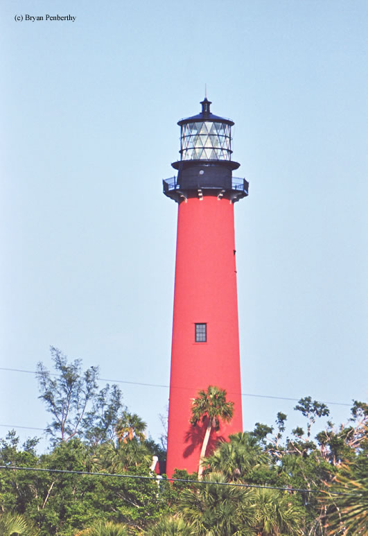 Photo of the Jupiter Inlet Lighthouse.