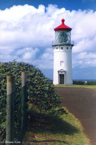 Photo of the Kilauea Point Lighthouse.