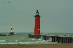 The lighthouse and breakwall.
