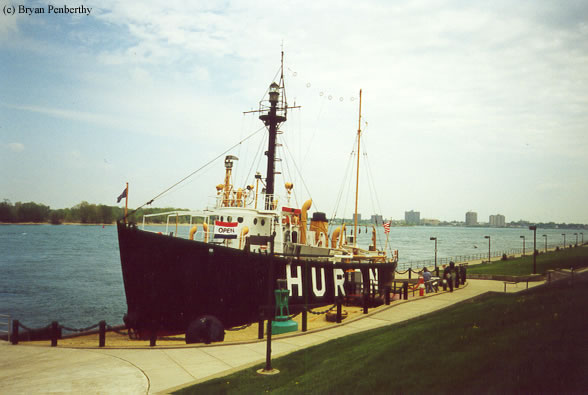 Photo of the Huron Lightship (LV-103/WAL-526).