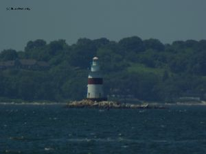 The lighthouse in the sound.
