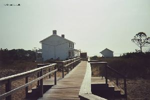 The boardwalk and the quarters.