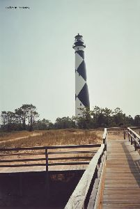 The tower and the boardwalk.