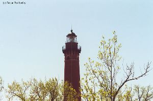 Nice shot of the upper half of the lighthouse.