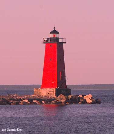 Photo of the Manistique East Breakwater Lighthouse.