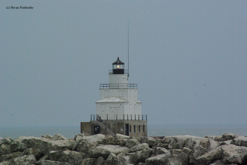 Photo of the Manitowoc Breakwater Lighthouse.