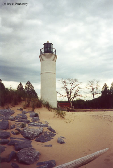 Photo of the Robert H. Manning Memorial Lighthouse.