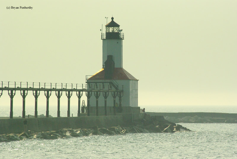 Photo of the Michigan City East Pierhead Lighthouse.