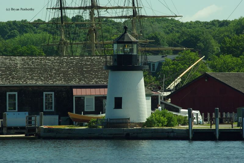 Photo of the Mystic Seaport Lighthouse.
