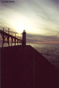 Sunset at the lighthouse.