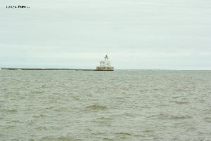Distance shot of the lighthouse.