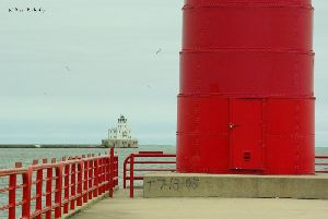 The Breakwater and Pierhead lighthouses.