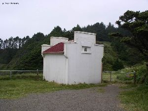 One of the two oil houses on site.