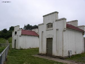 The two oil houses at the site.