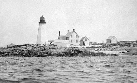 National Archives Photo of the 1851 Annisquam Lighthouse