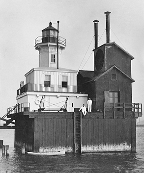 1872 Buffalo Breakwater Lighthouse, circa 1910, from the National Archives