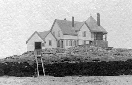 National Archives photo of the Cuckolds Fog Signal Station