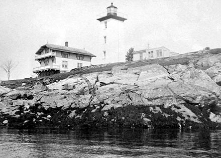 National Archives photo of the Hospital Point Lighthouse
