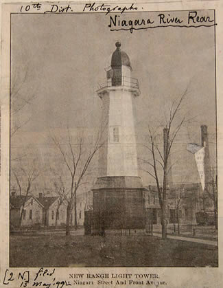 1899 Niagara Rear Range Light (Courtesy National Archives)
