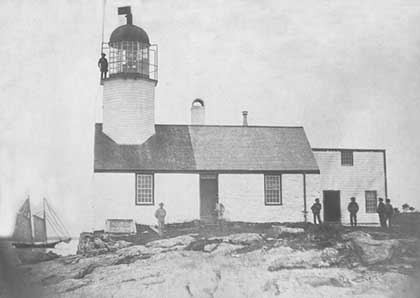 National Archives photo of the 1829 Hendrick's Head Lighthouse